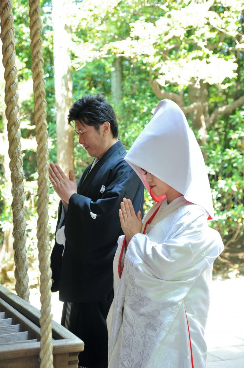挙式風景 赤坂神社 和婚 神前式 格安