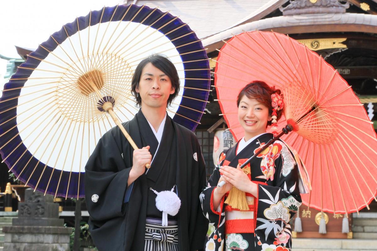 挙式風景 新宿十二社 熊野神社 和婚 神前式 格安