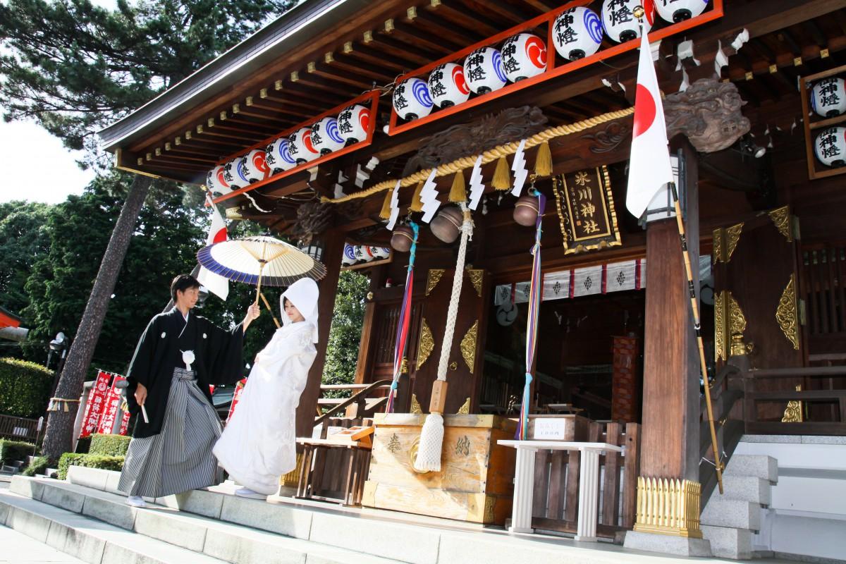 挙式風景 沼袋神社 和婚 神前式 格安