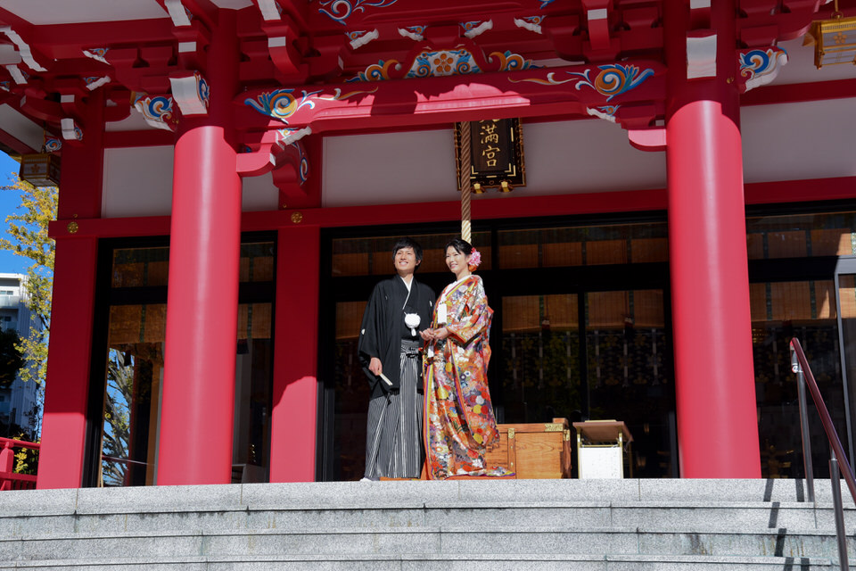 成子天神社 結婚式 写真7