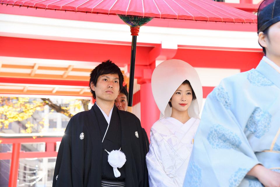 成子天神社 結婚式 写真9