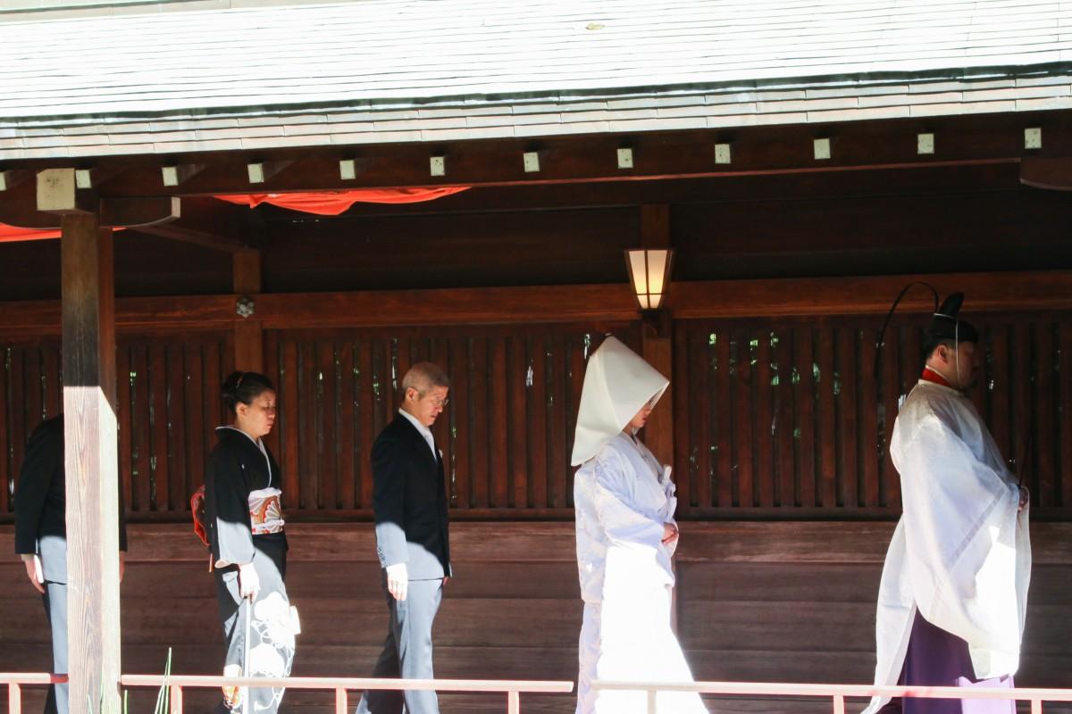 挙式風景 代々木 八幡宮 和婚 神前式 格安
