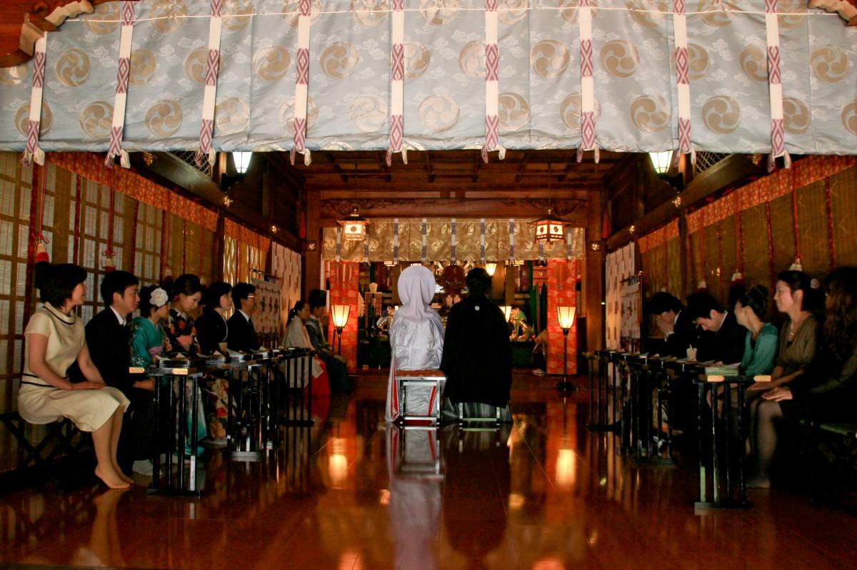 新宿十二社 熊野神社 結婚式 写真7