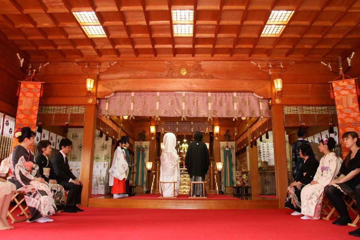 挙式風景 氷川神社 和婚 神前式 格安